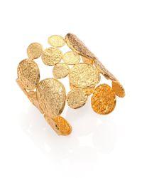 Nest - Metallic Medallion Openwork Cuff Bracelet - Lyst