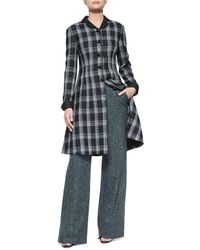 Proenza Schouler - Black Speckled Tweed Wide-leg Pants - Lyst