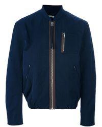 Acne Studios - Blue Cusack Biker Jacket for Men - Lyst