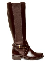 Steven by Steve Madden | Brown Sydnee Knee-high Leather Boots - Wide Calf | Lyst