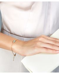 Astley Clarke - Metallic Gold-plated Milky Aqua Quartz Prismic Bracelet - Lyst