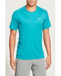 Nike - Green 'Miler' Dri-Fit Uv Protection T-Shirt for Men - Lyst