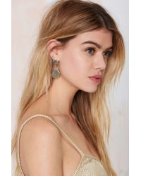 Nasty Gal | Metallic Rock With You Druzy Earrings | Lyst