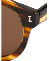 Illesteva | Brown Round Frame Sunglasses | Lyst