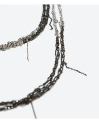 "Zara | Black ""Untitled Jewels"" Collection Chains Necklace 