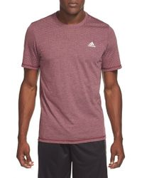 Adidas | Gray Aeroknit Short-Sleeved T-Shirt for Men | Lyst
