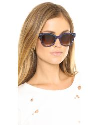 Thierry Lasry - Blue Angely Sunglasses Violet Greenbrown Gradient - Lyst