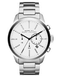 Marc By Marc Jacobs - Metallic 'Dillon' Chronograph Bracelet Watch for Men - Lyst