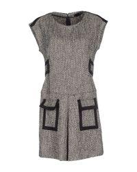 Love Moschino Gray Short Dress