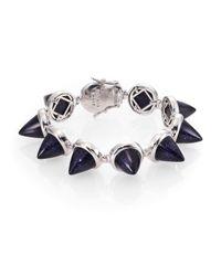 Eddie Borgo | Blue Sandstone Cone Bracelet | Lyst