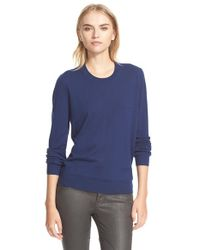 Burberry Brit | Blue Cashmere Crewneck Sweater | Lyst