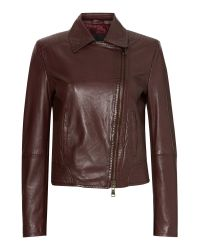 Max Mara | Brown Getti Leather Jacket | Lyst