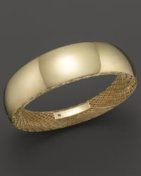 Roberto Coin - Metallic 18k Yellow Gold Golden Gate Wide Bangle - Lyst