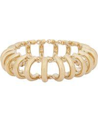 Balenciaga - Metallic Chain Track Bracelet - Lyst