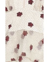 Vilshenko - Multicolor Zuzu Printed Organza Frill Dress - Lyst