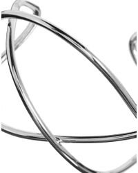ASOS - Metallic Abstract Wire Cuff Bracelet - Lyst