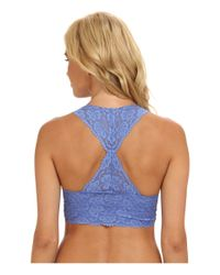 Free People - Blue Galloon Lace Racerback Crop Bralette F040o835 - Lyst