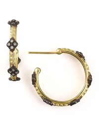 Armenta | Multicolor Crivelli Cross Hoop Earrings | Lyst