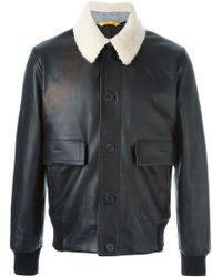 Canali - Black Aviator Jacket for Men - Lyst
