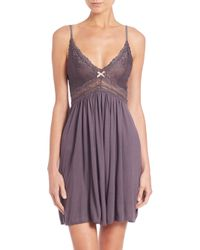 Eberjey | Purple Colette Chemise | Lyst