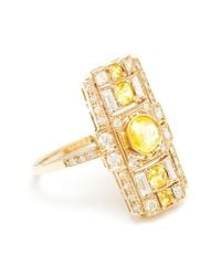 Sabine G - Metallic 18Kt White Gold And Yellow Sapphire Ring - Lyst