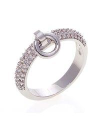 Noir Jewelry | Metallic Poly Door Knocker Ring | Lyst