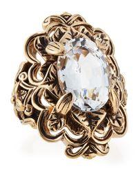 Stephen Dweck | Metallic Victoria Crystal Ring Size 7 | Lyst