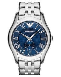 Emporio Armani - Metallic Round Bracelet Watch - Lyst