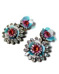 Shourouk - Multicolor Flower Aqua Earrings - Lyst