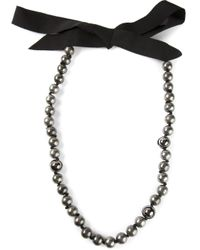Lanvin | Gray Pearl Necklace | Lyst