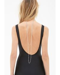 Forever 21 | Metallic Draped Chain Wire Choker | Lyst