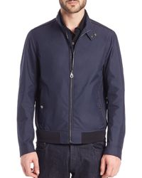 Ferragamo - Blue Lightweight Bomber Jacket for Men - Lyst