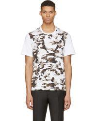 Neil Barrett | White Abstract Bust Print T-Shirt for Men | Lyst