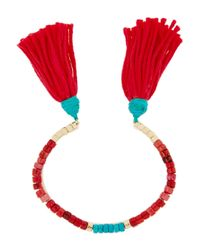 Aurelie Bidermann | Red Sioux Coral, Bamboo & Gold-Plated Cuff | Lyst
