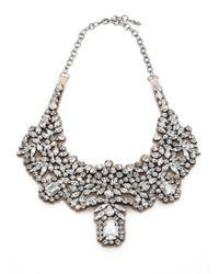 Valentino | Metallic Glamorous Crystal Satin Bib Necklace | Lyst