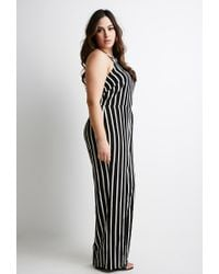bf775ebdbff Lyst - Forever 21 Plus Size Striped Cami Jumpsuit You ve Been Added ...