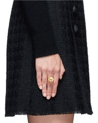 Alexander McQueen | Metallic King Skull Ring | Lyst