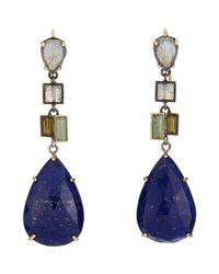 Nak Armstrong | Blue Gemstone Drop Earrings | Lyst