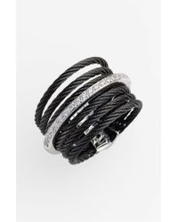 Alor | Black 7-row Cable & Diamond Ring | Lyst