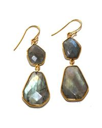 Argento Vivo | Metallic Double Geo Stone Drop Earrings | Lyst
