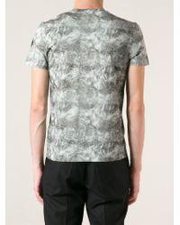 Moncler - Green Printed T-shirt for Men - Lyst
