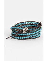 Chan Luu | Black Beaded Leather Wrap Bracelet - Turquoise | Lyst