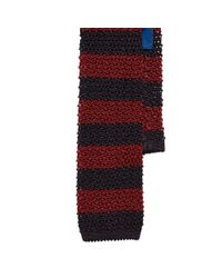 Polo Ralph Lauren - Black Striped Knit Silk Tie for Men - Lyst