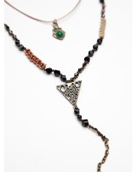 Free People | Brown Double Layer Rosary | Lyst