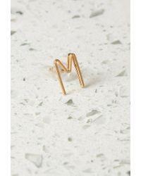 Forever 21 | Metallic By Boe M Letter Earring | Lyst