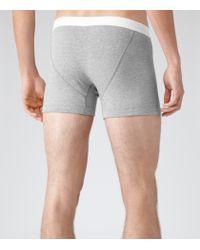Reiss | Gray Ace Cotton Trunks for Men | Lyst