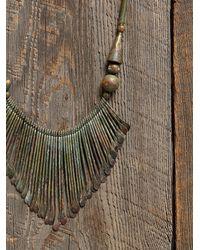 Free People - Metallic Vintage Brass Dangle Necklace - Lyst