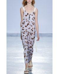 Ellery - Gray Light Grey Floral Velvet Transformer Dress - Lyst