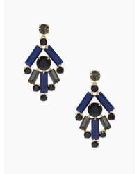 kate spade new york | Blue Madison Ave. Empress Gems Chandelier Earrings | Lyst