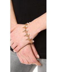 Fallon - Pink Swarovski Immitation Pearl Spike Bracelet - Lyst